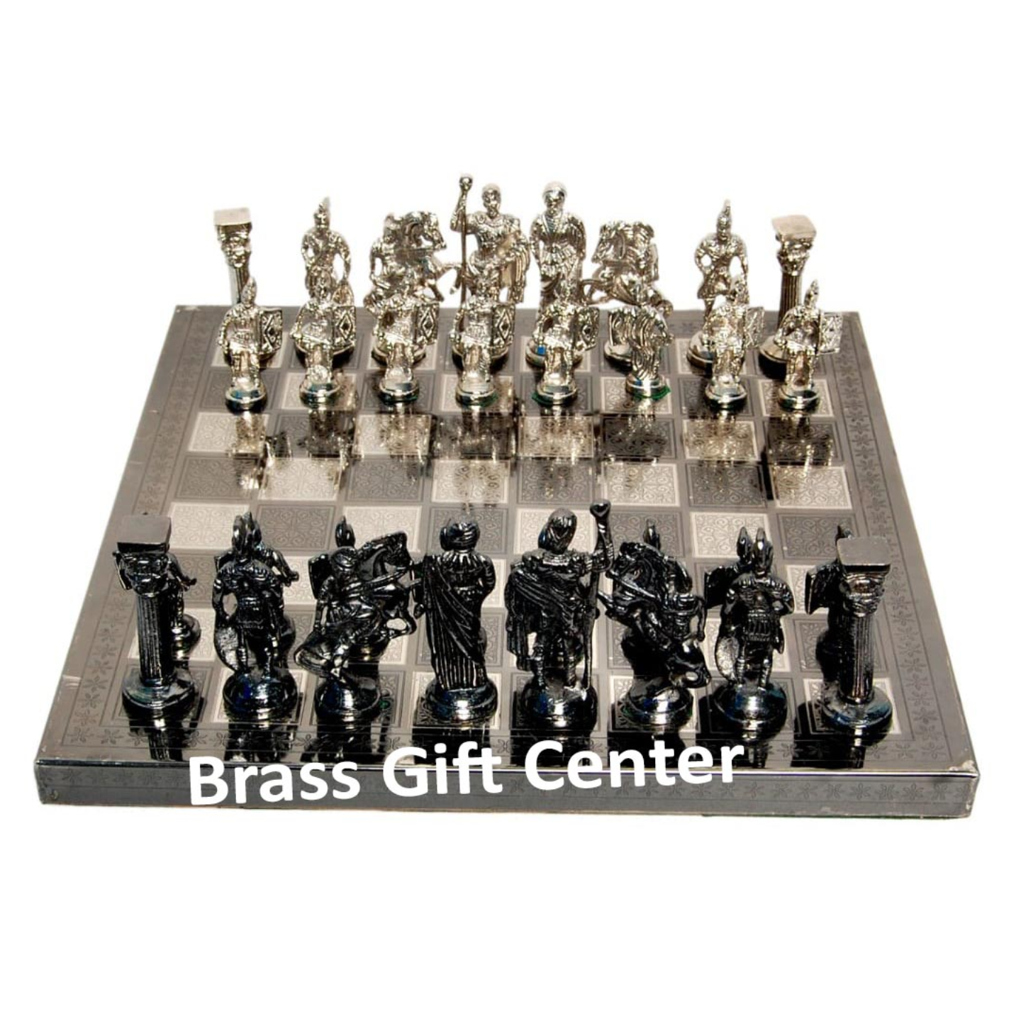Brass Chess In Nickel and Black Finish - 1212 Inch  BS363 J