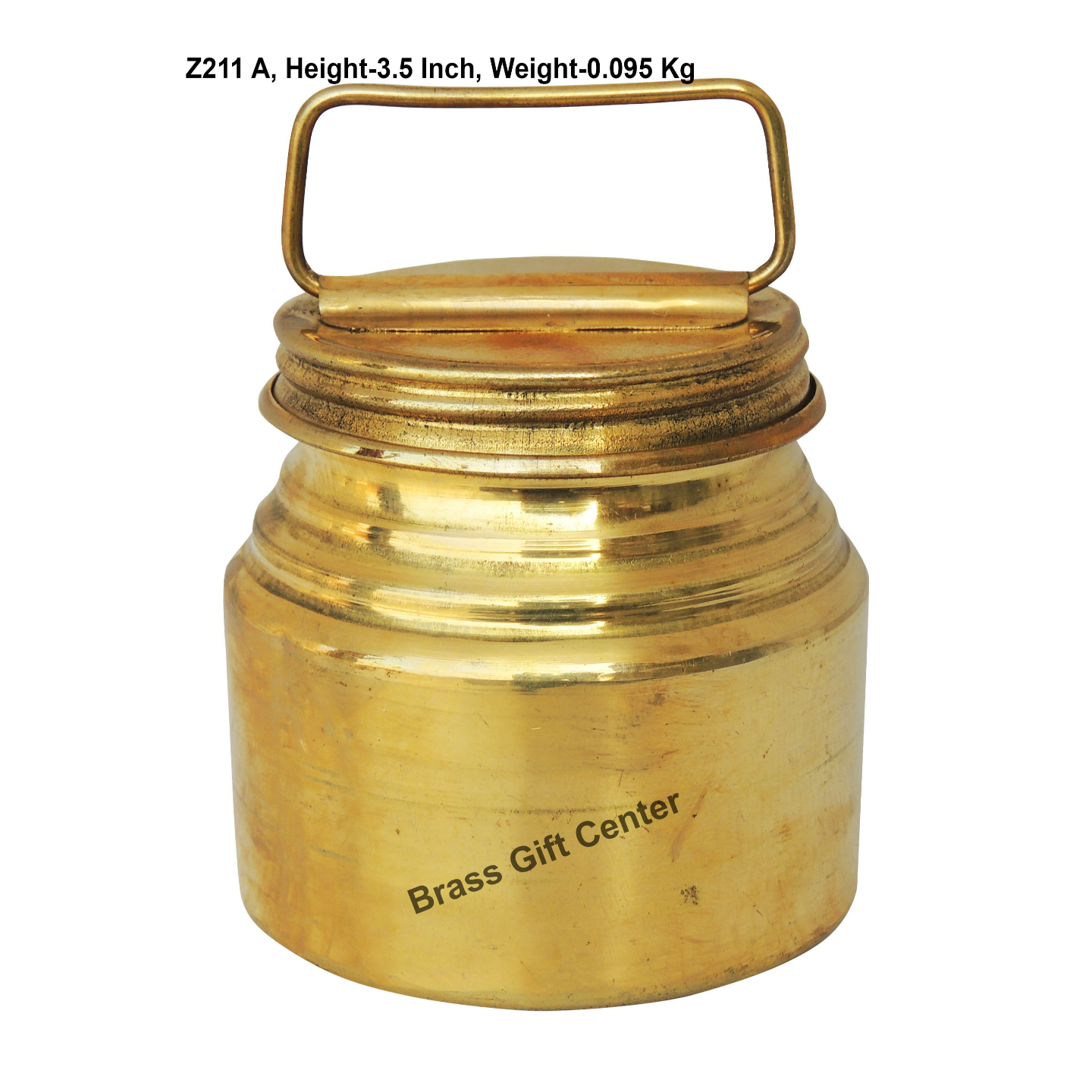 Brass Ganga JAL Pitcher Gangajali 200 ml - 2.7*2.7*3.5 Inch  (Z211 A)