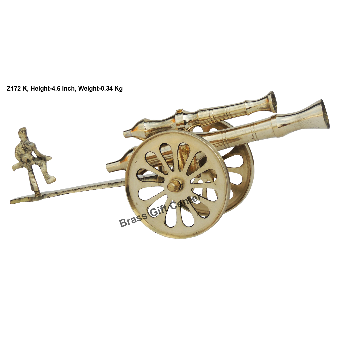 Brass Small Toop Cannon No 12 - 10.8*3.6*4.6 Inch  (Z172 K)