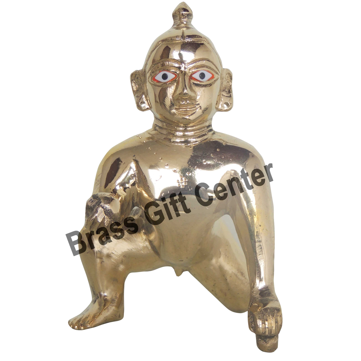 Brass Laddu Gopal God Idol With Brass Finish, Height - 6 Inch BS871 D