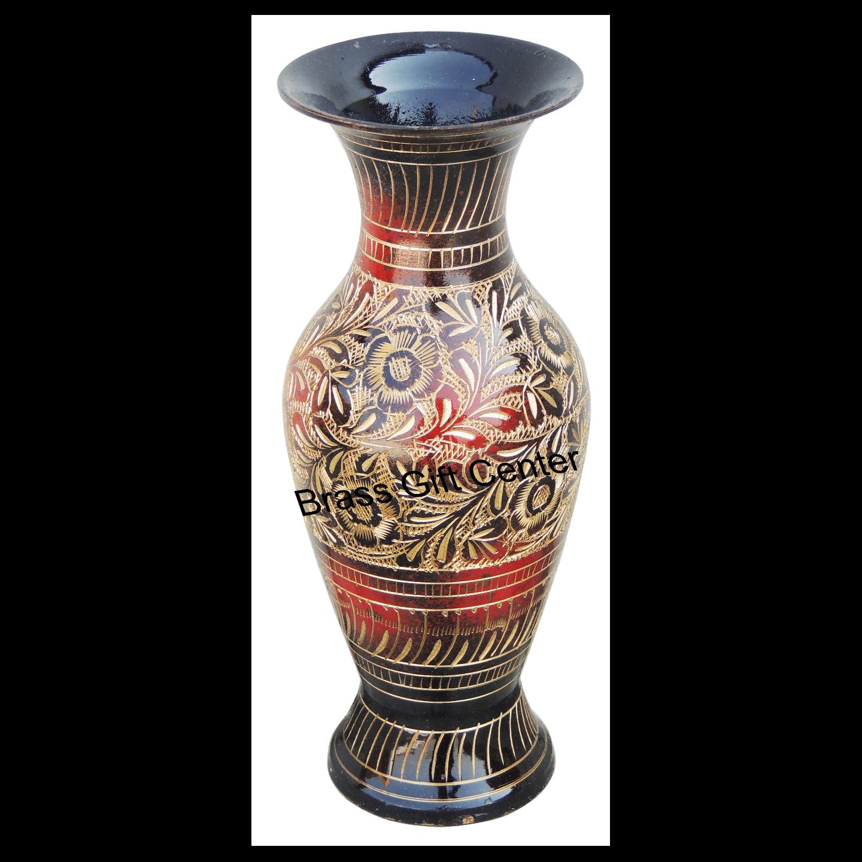 Brass Coloured Flower Vase with handwork - 337.5Inch  F281 C
