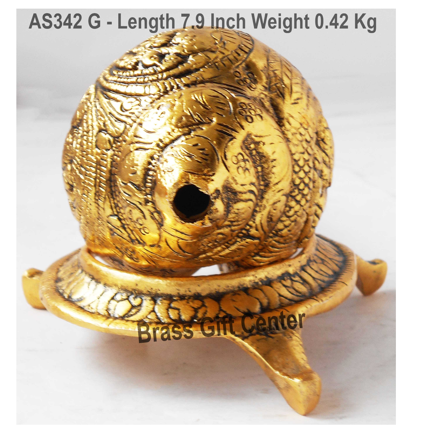 Shank With Stand In Gold Antique- 7.9x4.9x4.1 Inch (AS342 G)