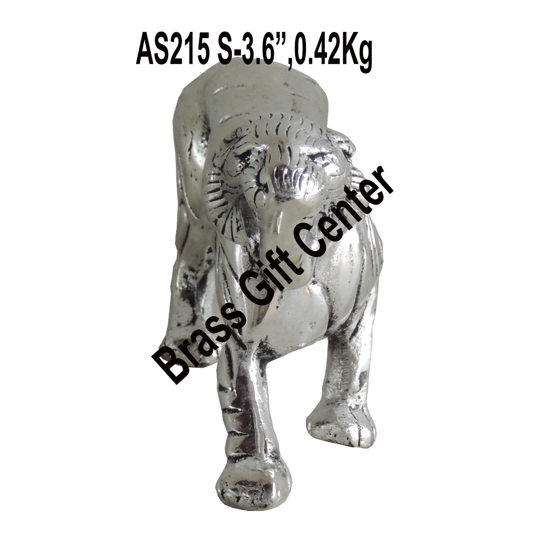 Aluminium Tiger Statue Silver Antique- 9*2*3.6 inch Inch (AS215 S)