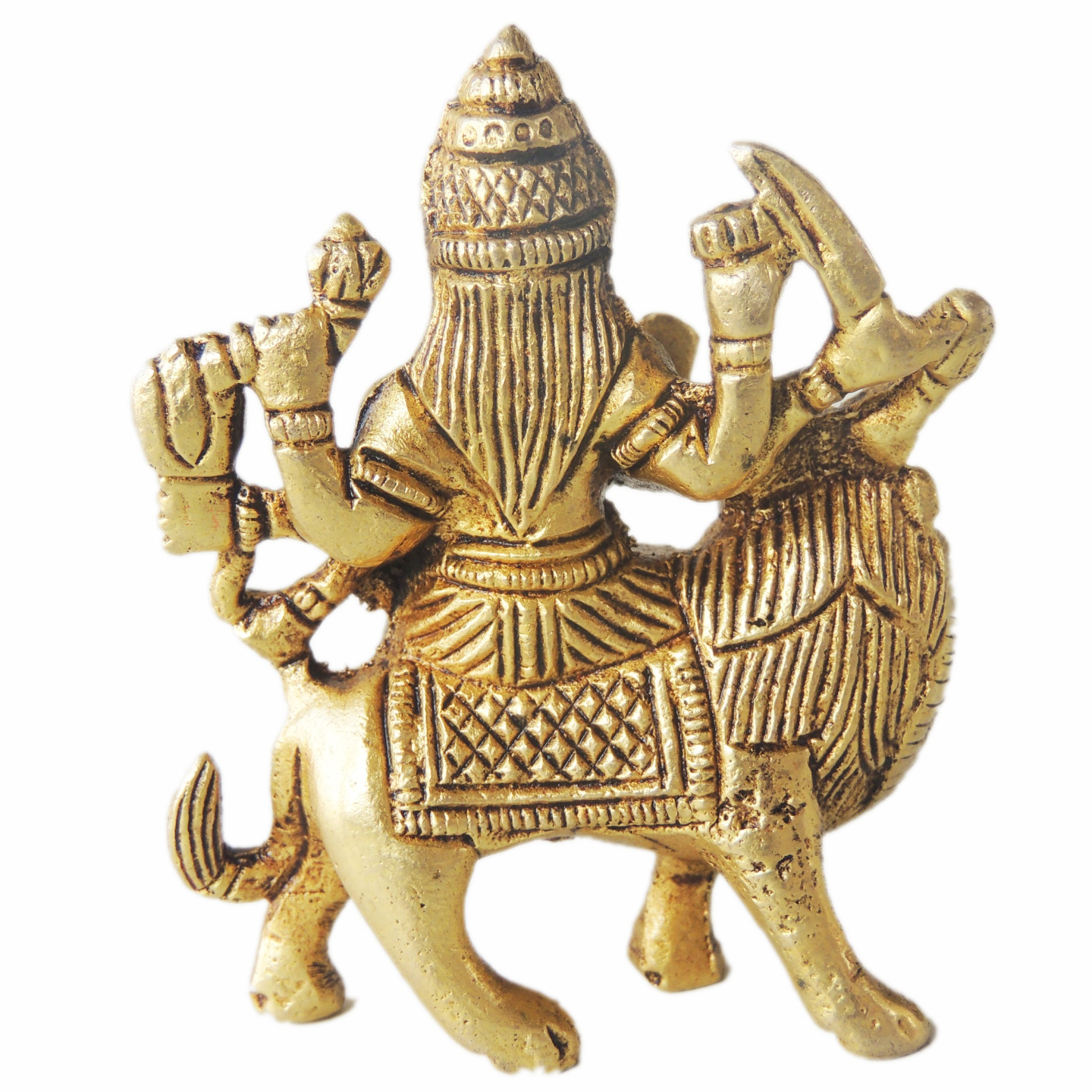 Brass Showpiece Durga Ji - 3 Inch (BS1227 A)