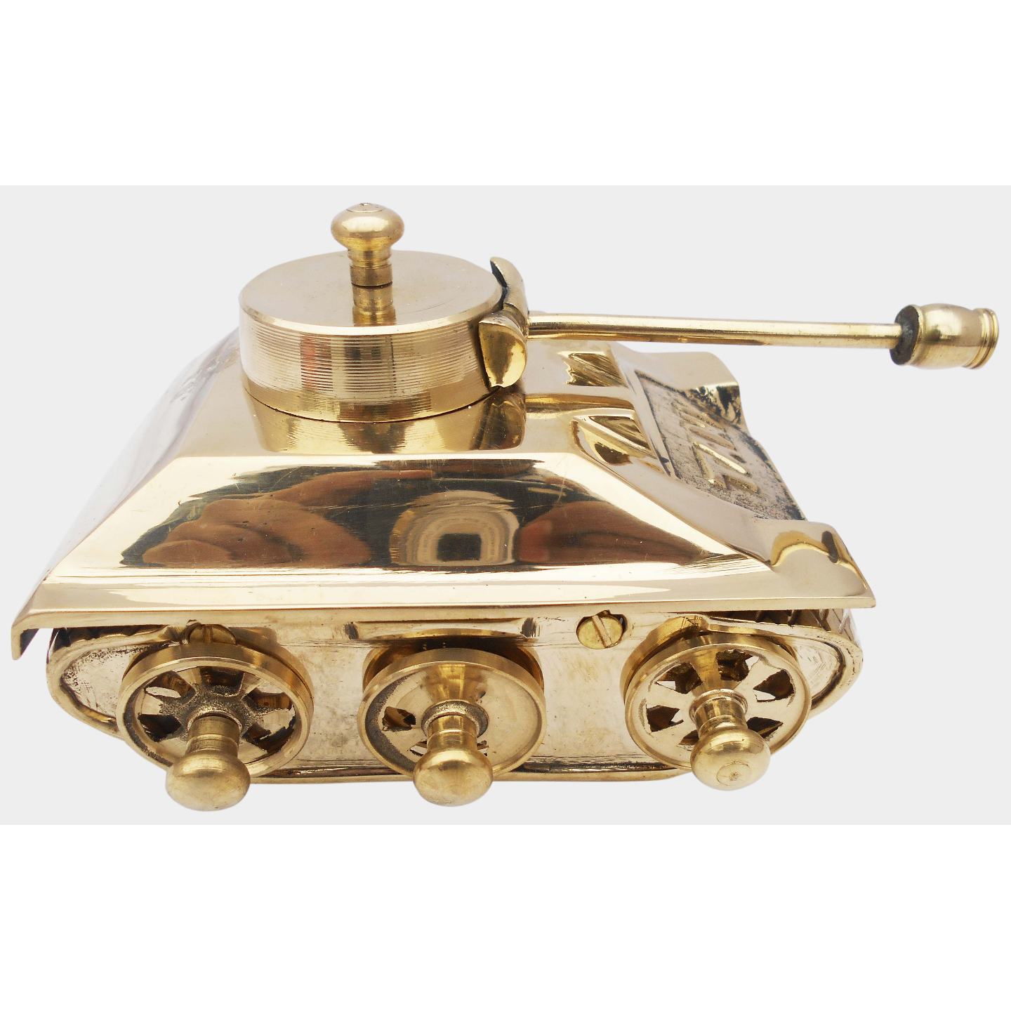 Brass Tank Toy Miniature For Children Playing- 7*5.5*4 Inch  (Z329 D)