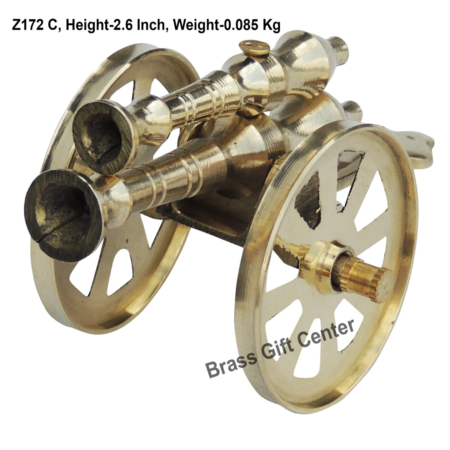Brass Small Toop Cannon No. 5 - 4.4*2.2*2.6 Inch  (Z172 C)