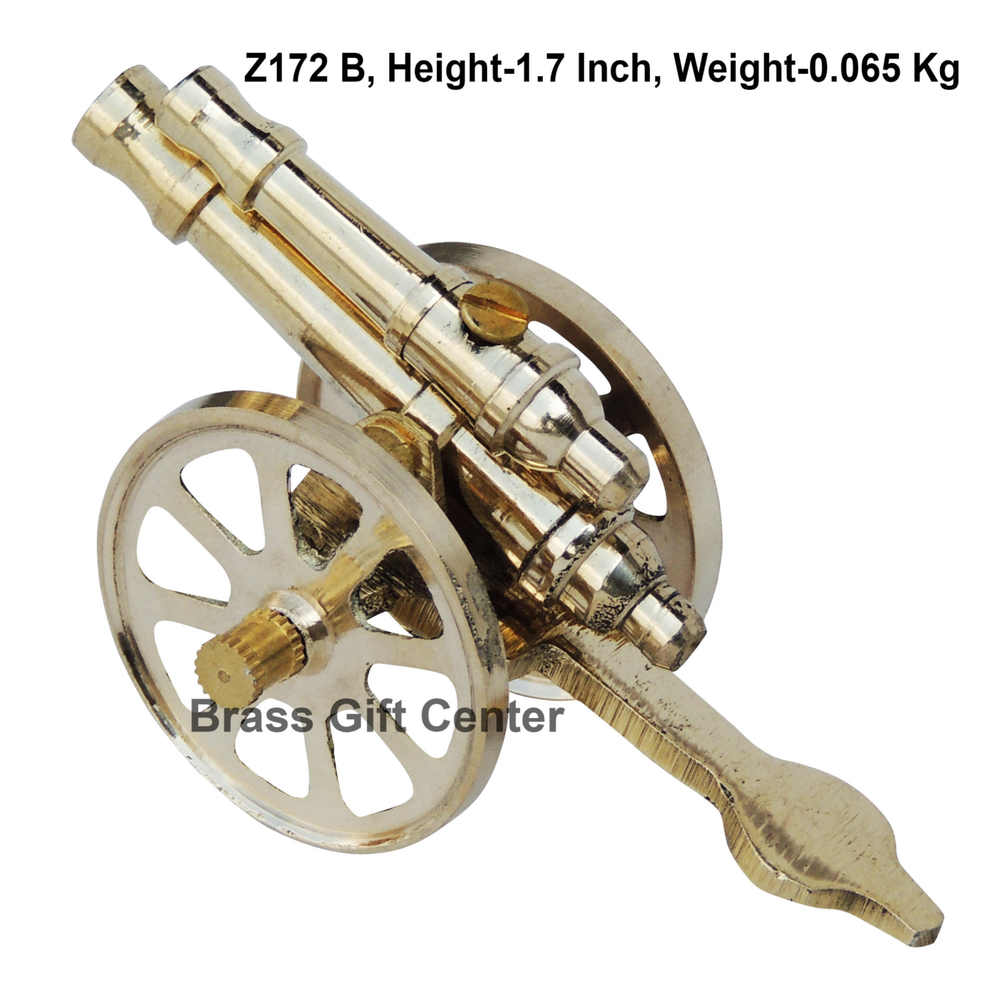 Brass Small Toop Cannon No 4 - 3.5*1.7*1.7 Inch  (Z172 B)