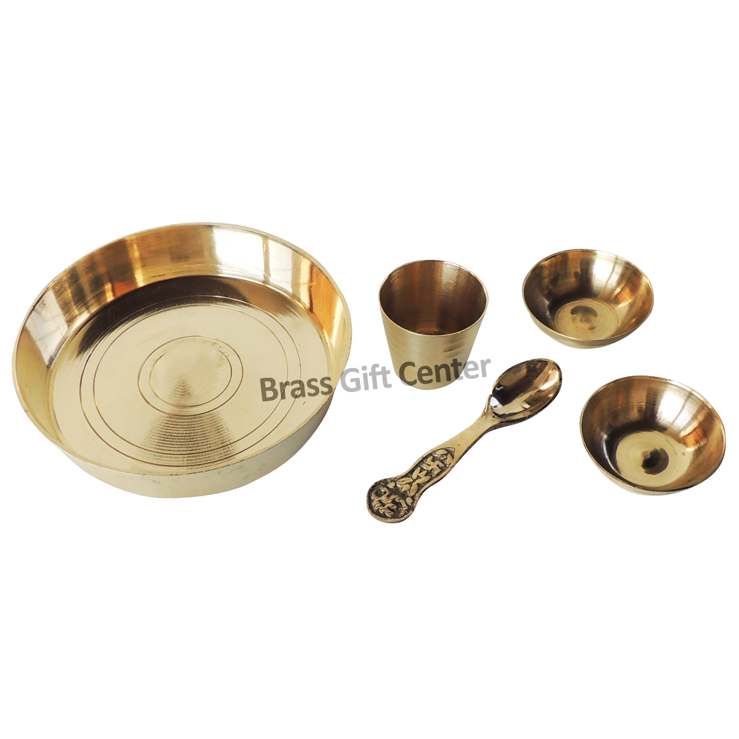 Brass Laddu Gopal Bhog Thali Set, Length  4 Inch Z460 F