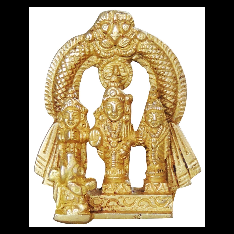 Brass Ram Dharbar Statue Murti idol 110 gm - 1.5*1*2.5 inch  (BS1057 C)