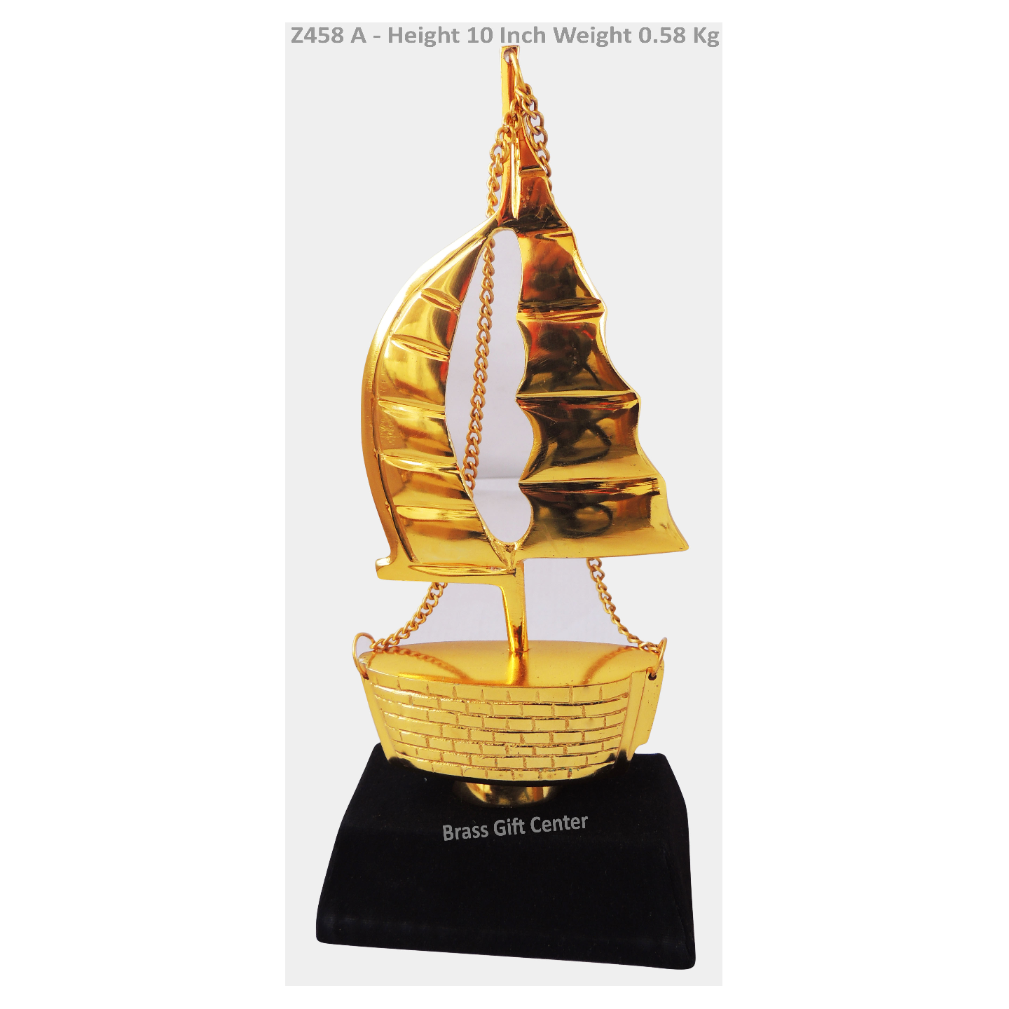 Showpiece Ship With Wooden Base - 10 Inch (Z458 A)
