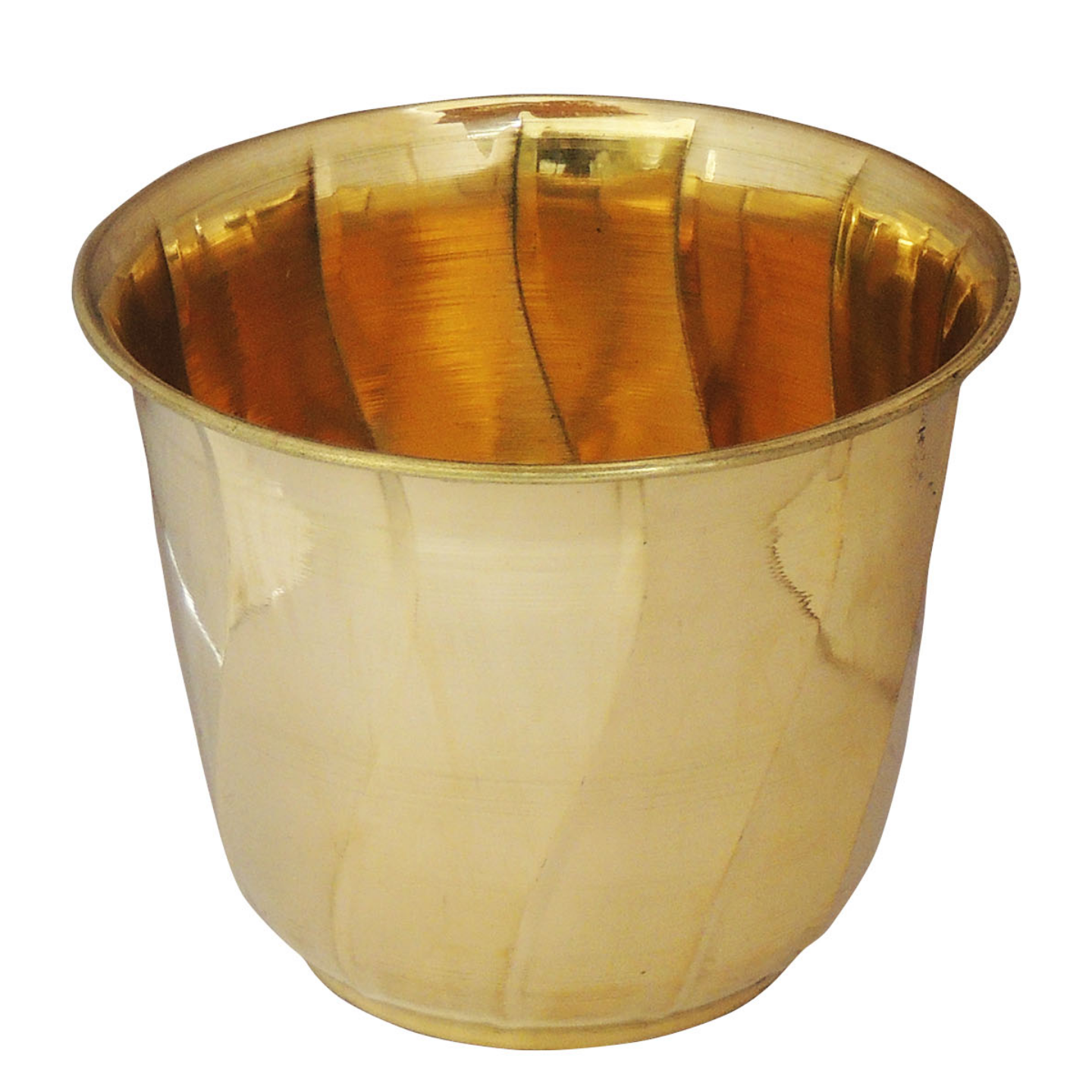 Brass planter Pot Gamala Diameter 6 Inch weight 280 gm  (F653 C)