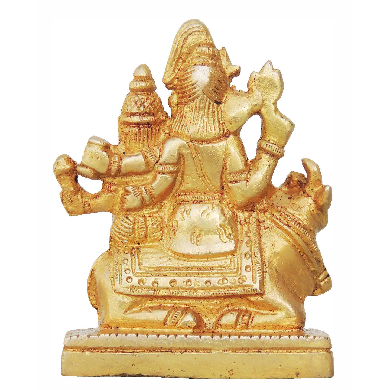 Brass Shiv parivaar Statue Murti Idol - 2.5*1.5*3.5 Inch  (BS760 B)