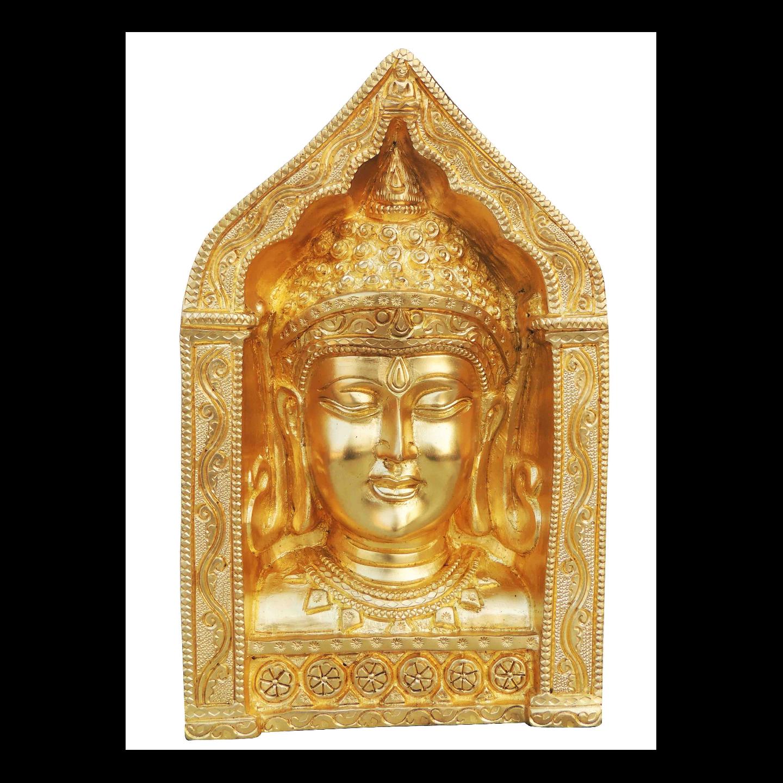 Brass Showpiece Buddha Face 9.3 Inch BS025