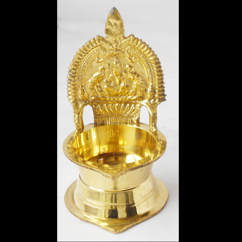 Brass Kamakshi Velakku Deepak - 3*3*4.6 Inch  (Z392 F)