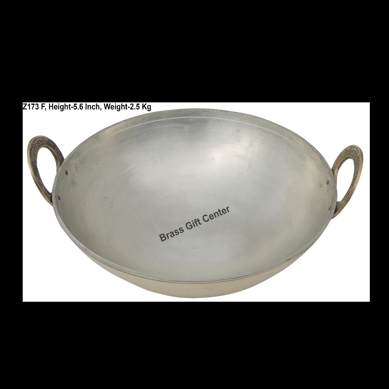 Brass Kadai With Kalai Work 3.5 liter - 1212 Inch  Z173 F