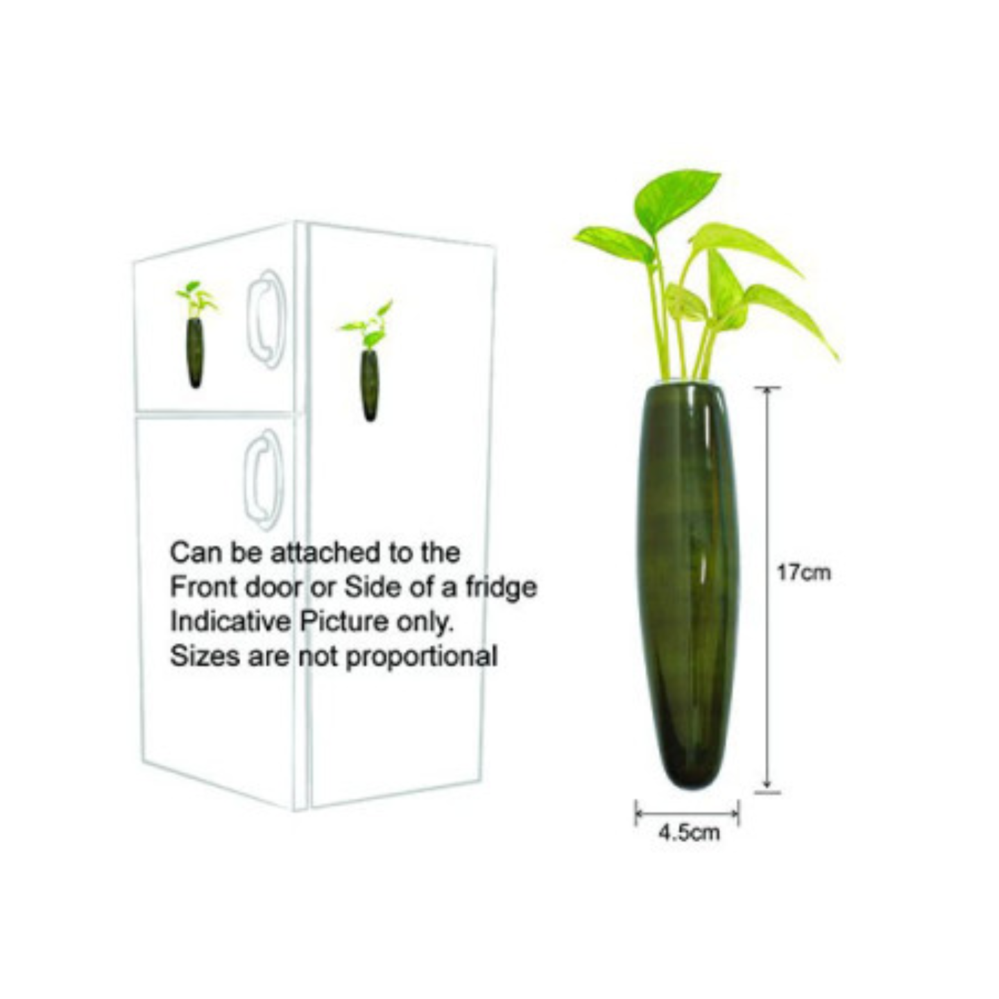 Yellow Fridge Plant Holder