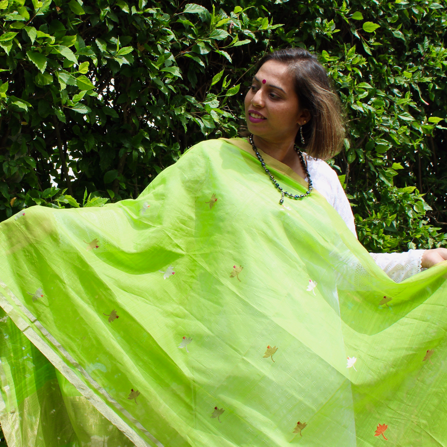 Lime Green Fresh Dupatta