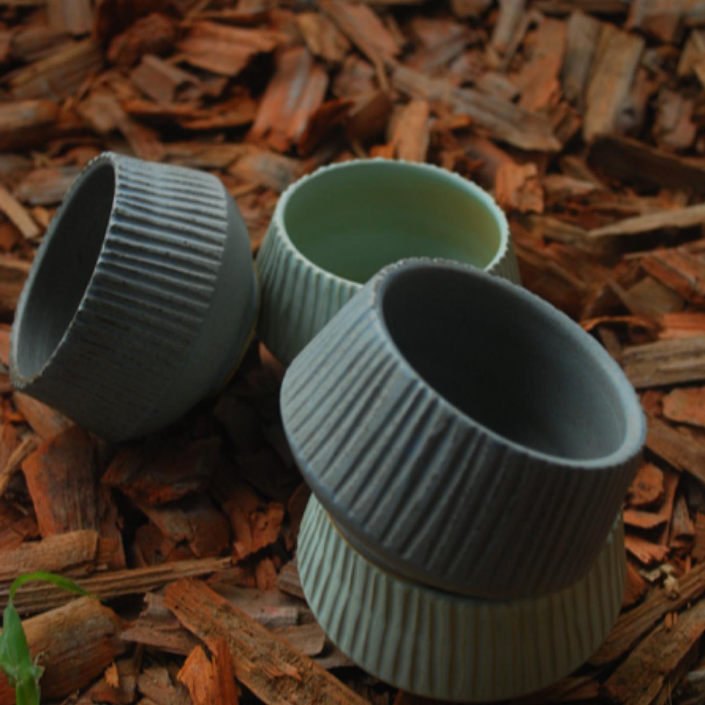 Carved Ceramic Bowl