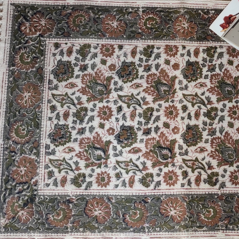 Dhurrie - Kalamkari Hand Block Printed