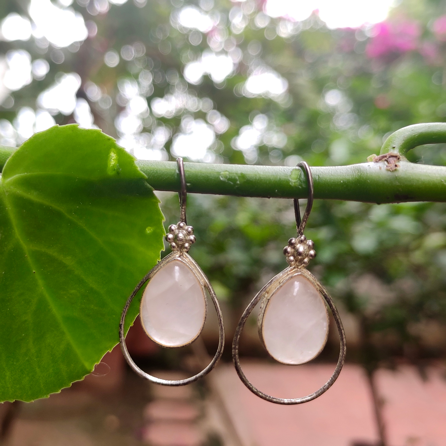 Rose Quartz - Earring