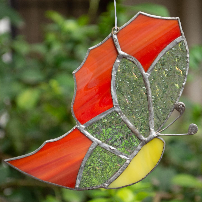 Spot Me In A Flower Sun Catcher - Butterfly