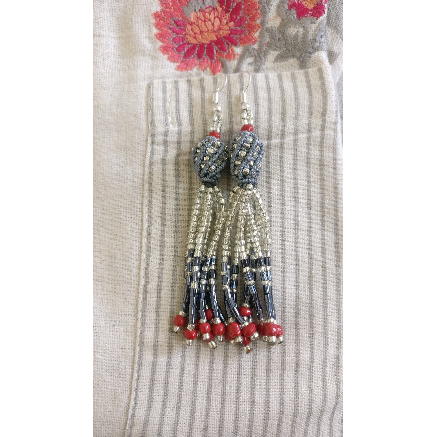 Earrings - Ghoomar Beads and Knots