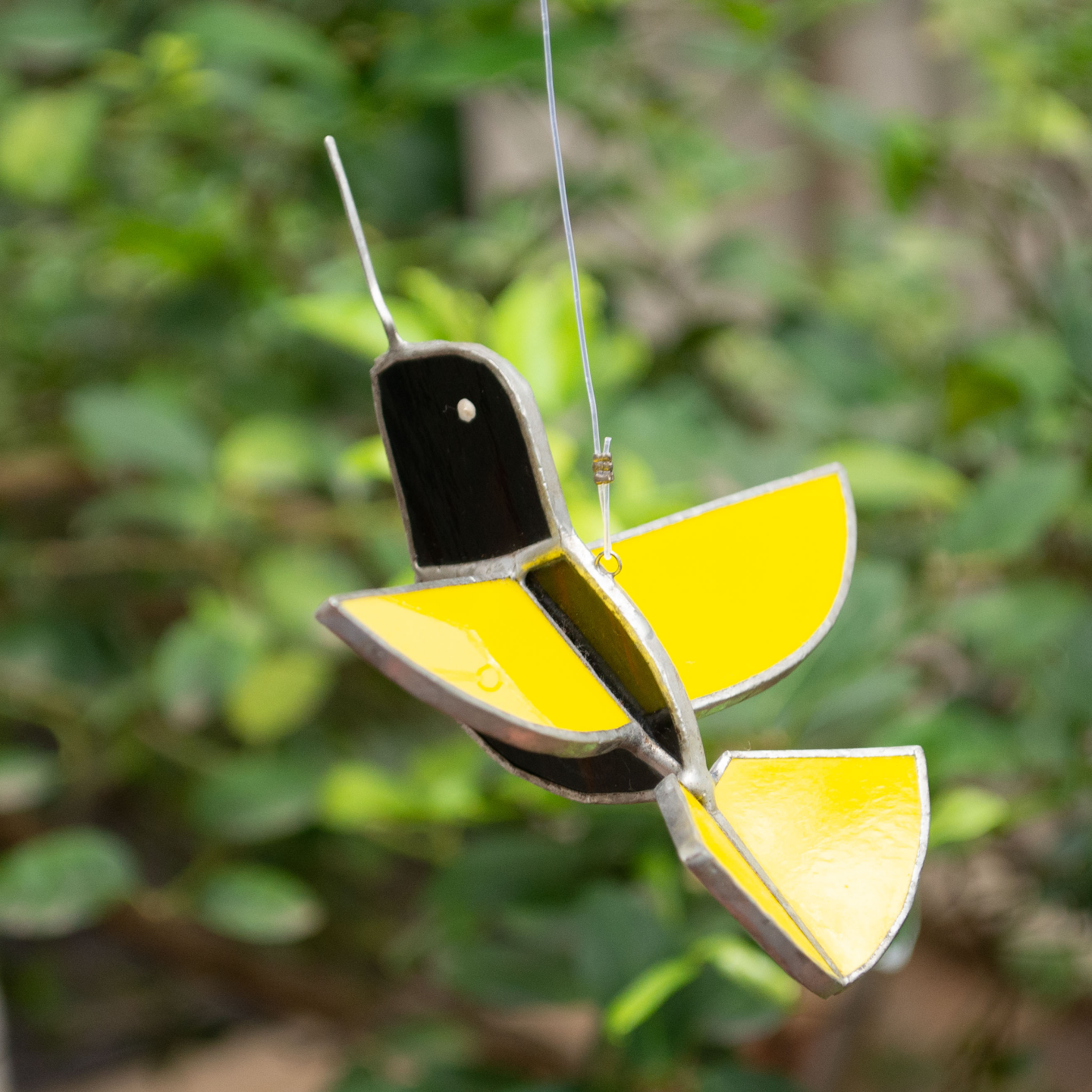 Yellow BIrdie Reaching for the Skies Sun Catcher - Humming Bird