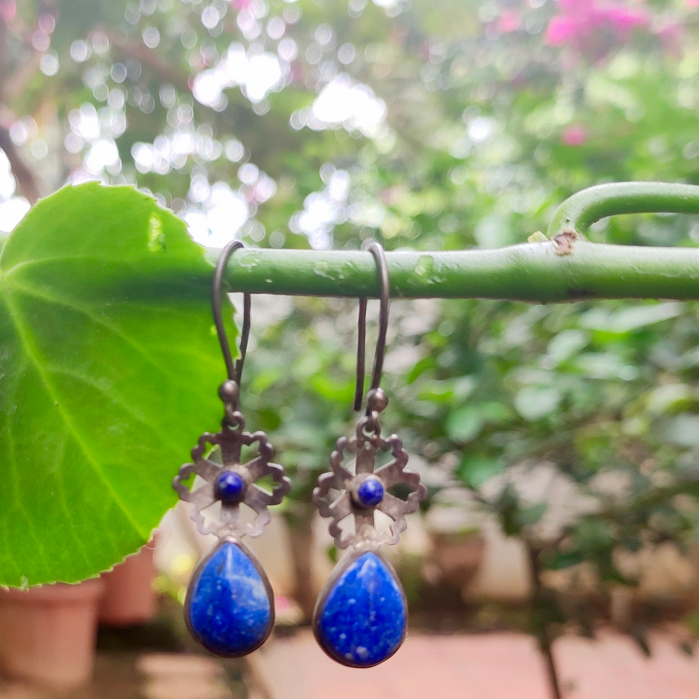 Brilliant Blue Lapis Lazuli - Earrings