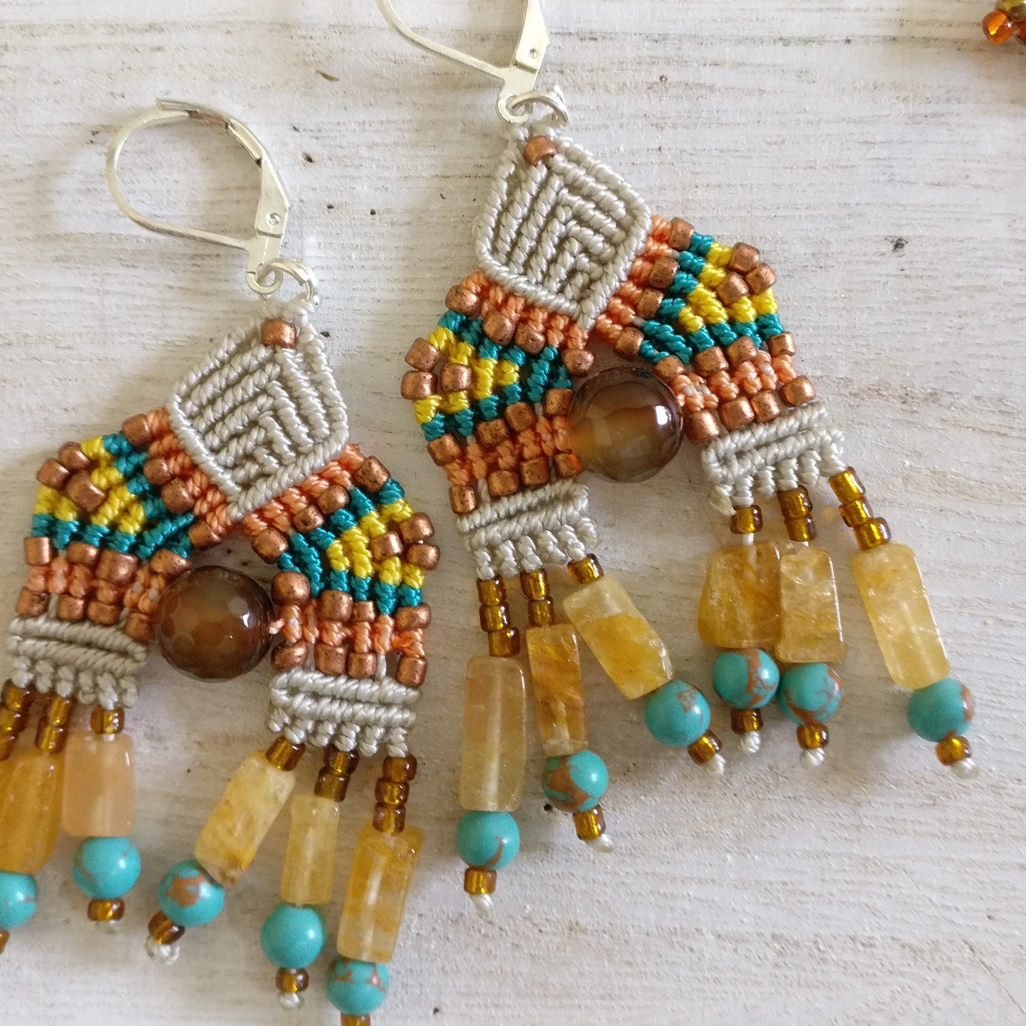 Earrings - Avani Beads and Knots