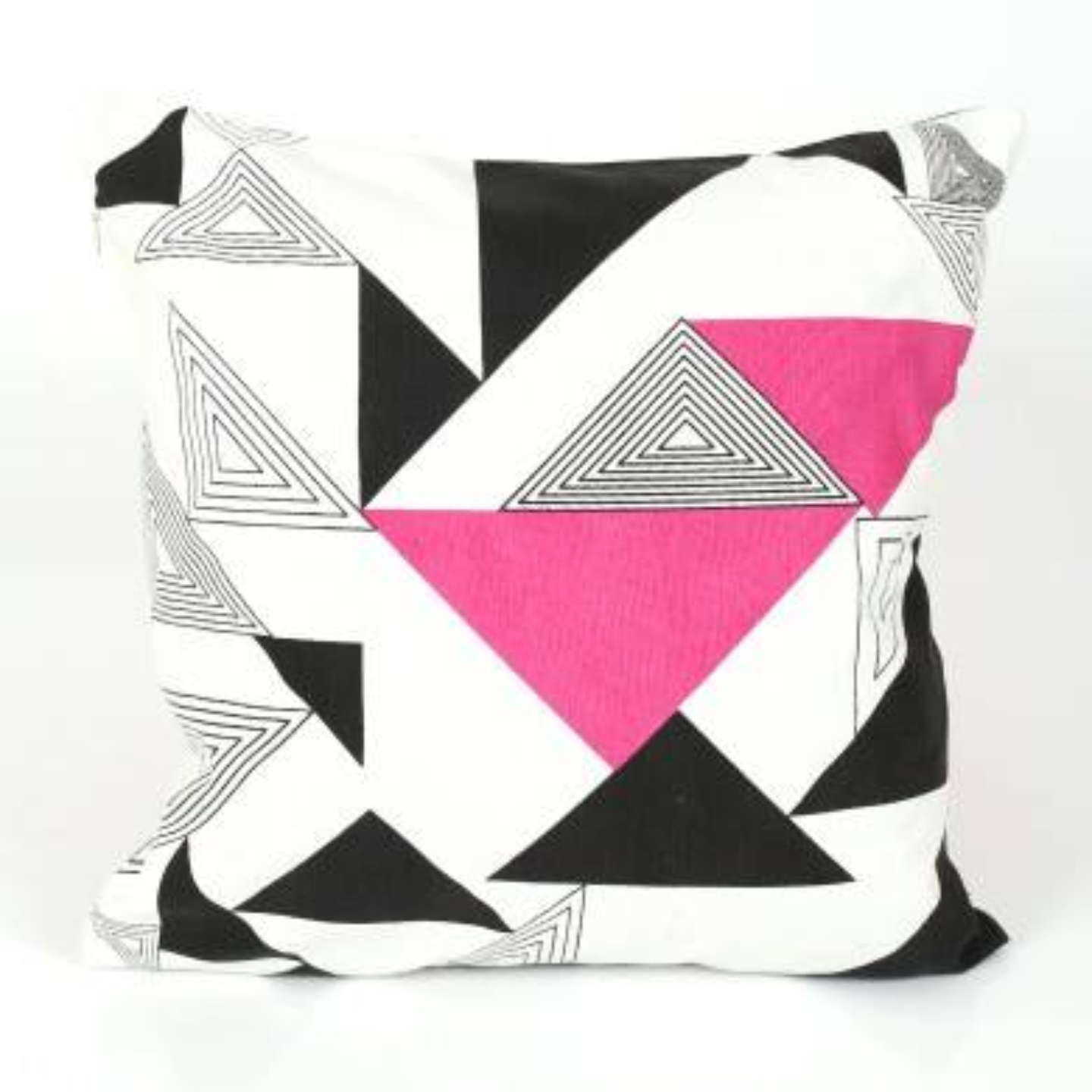 Muticoloured Zigzag Cushion
