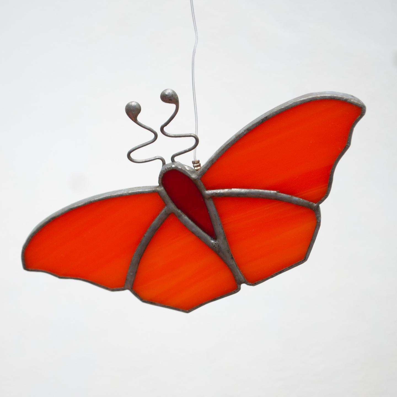 Bright Orange Sun Catcher - Butterfly