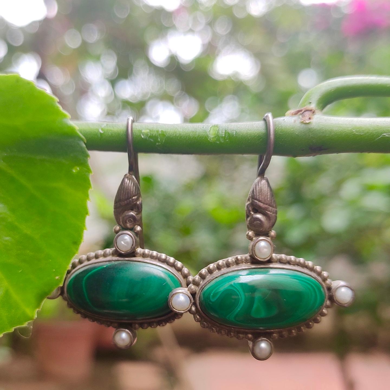 Green Malachite Earrings
