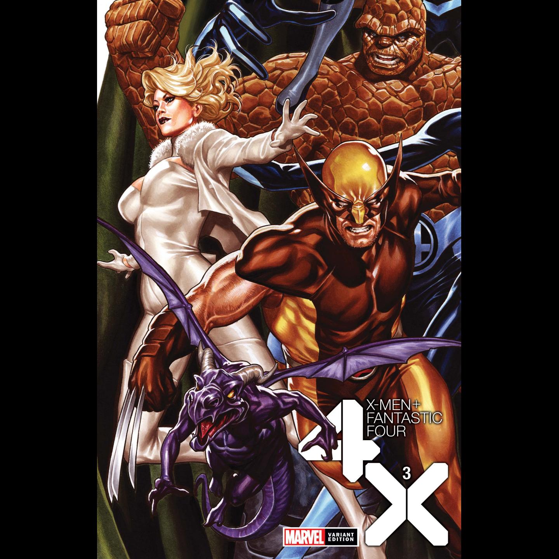 X-MEN FANTASTIC FOUR 3 OF 4 BROOKS VAR