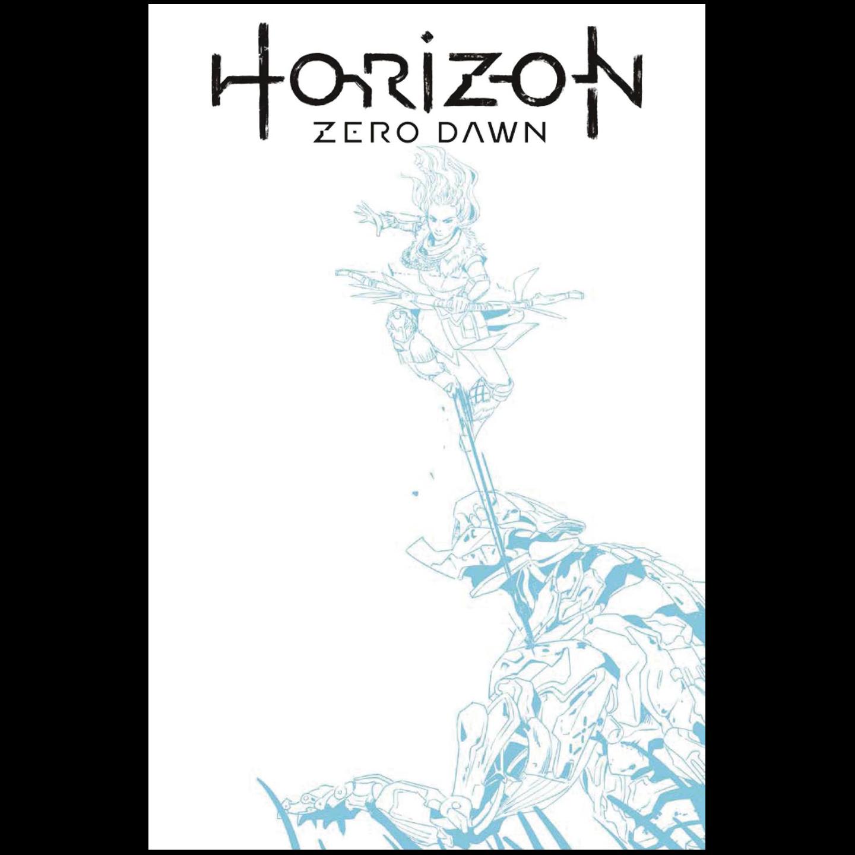 HORIZON ZERO DAWN 1 CVR F BLUE LINE SKETCH