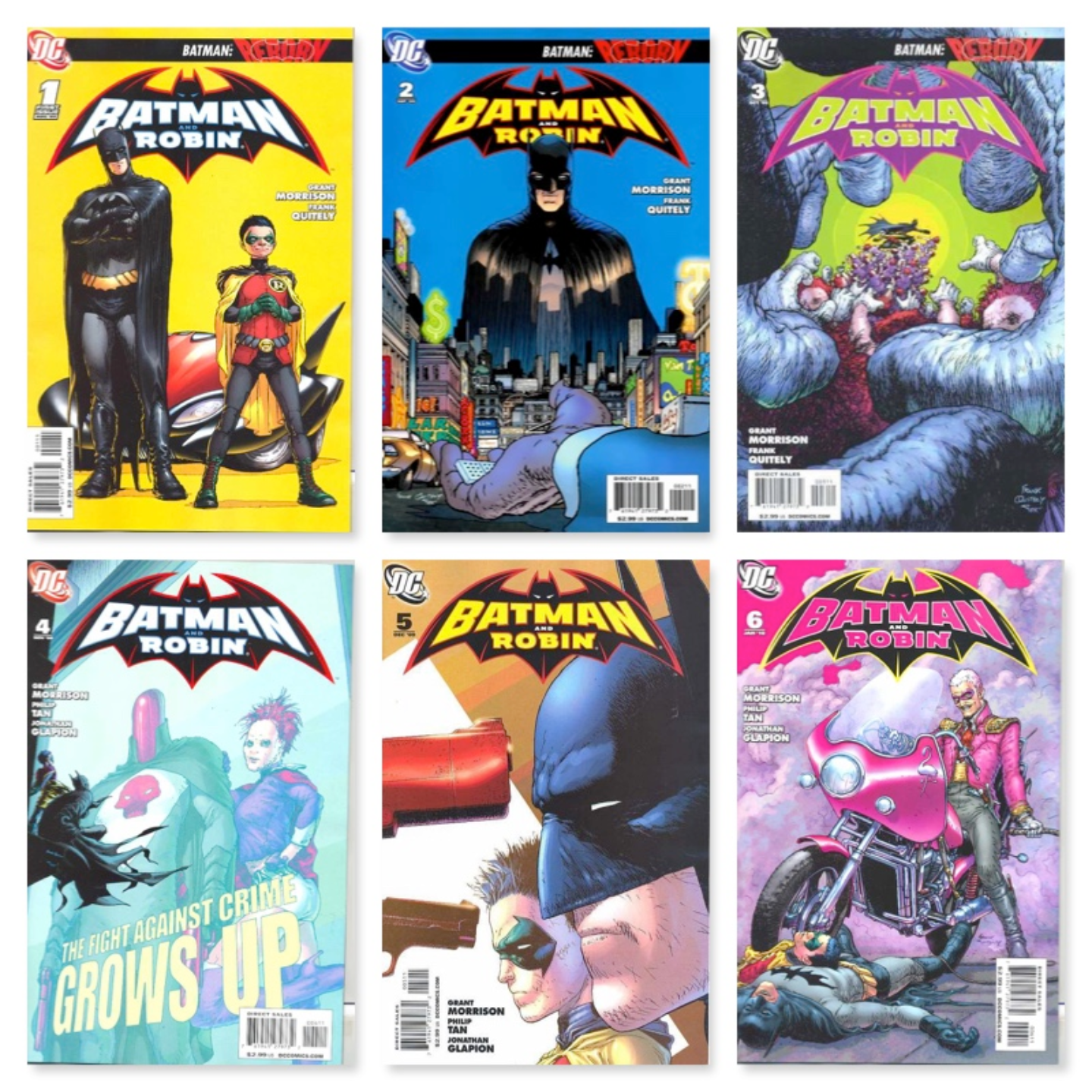 BATMAN AND ROBIN #1 - #18 (KEY COLLECTION)