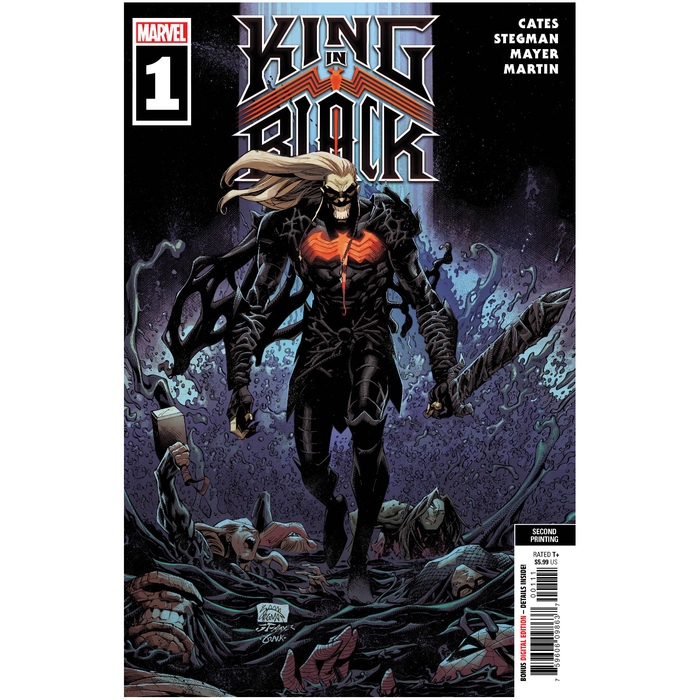 KING IN BLACK #1 (OF 5) 2ND PTG STEGMAN VAR