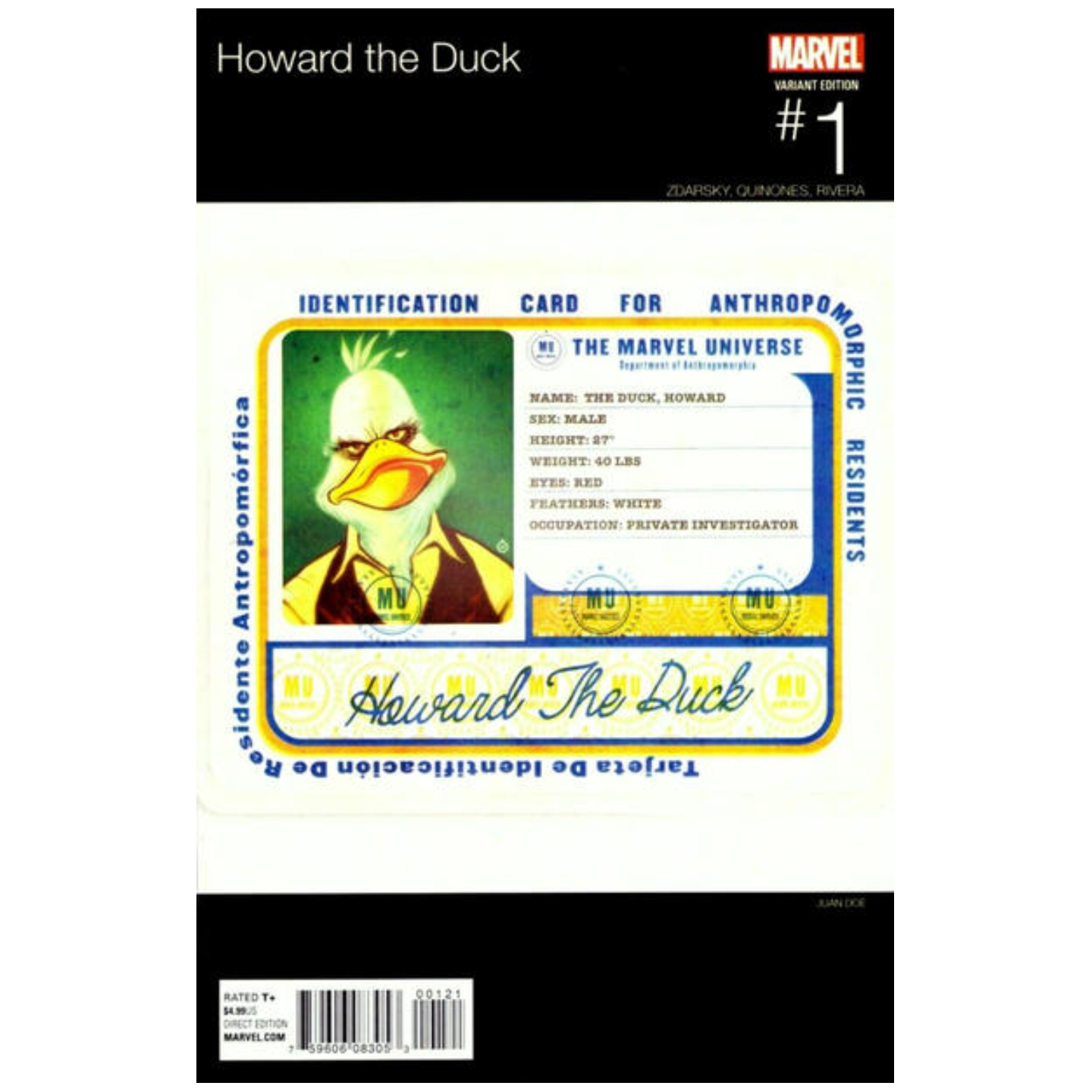 HOWARD THE DUCK #1 HIP HOP VARIANT