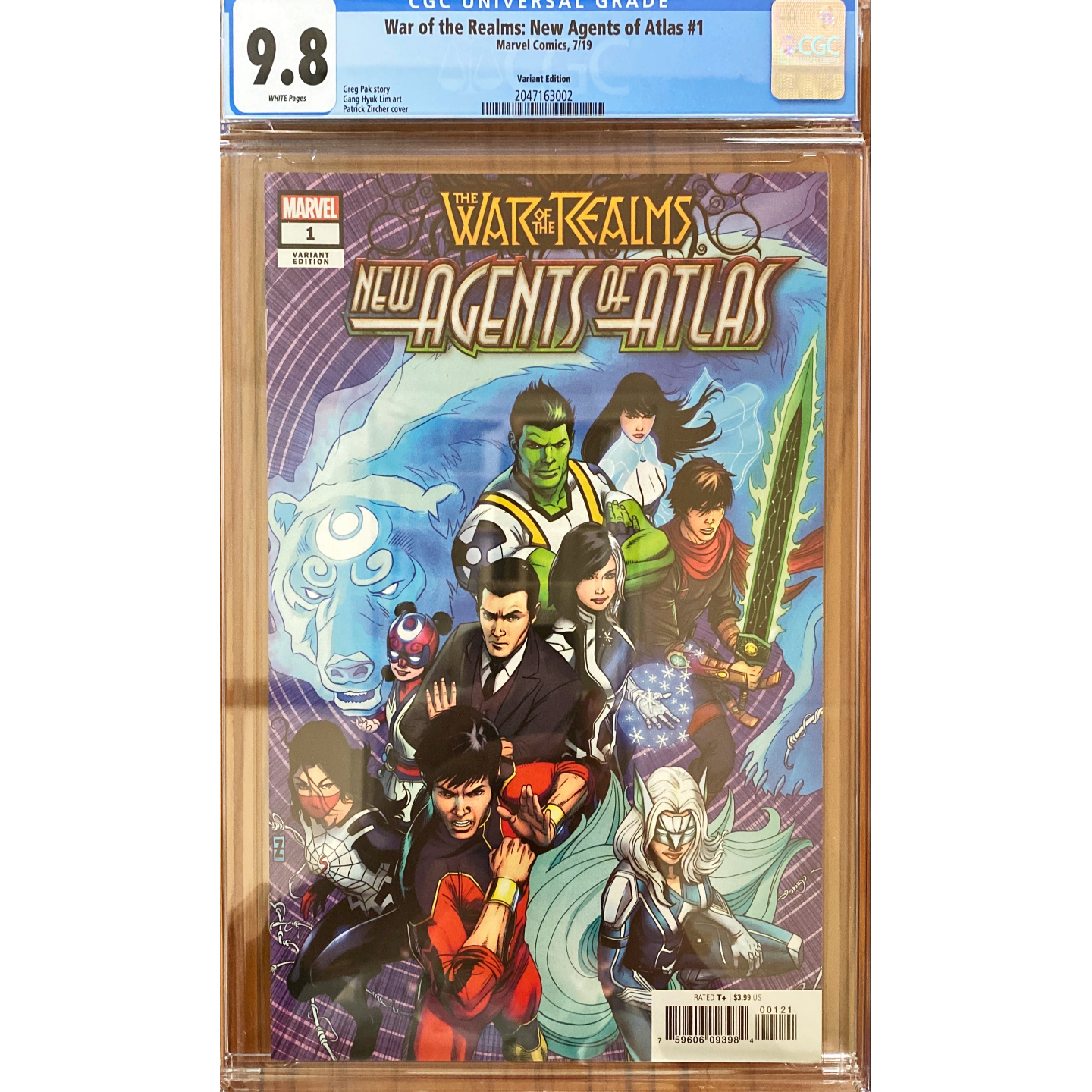 WAR OF THE REALMS : NEW AGENTS OF ATLAS #1 (1:50) CGC 9.8
