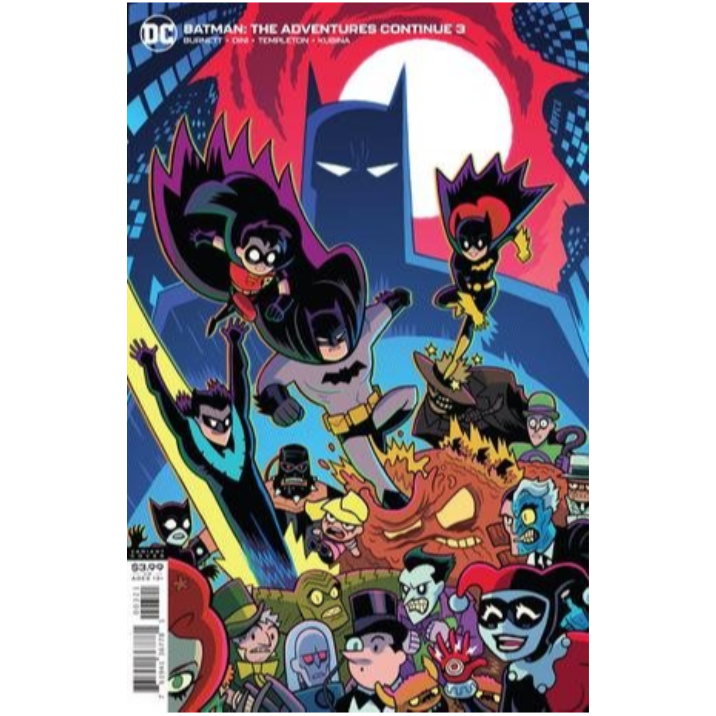 BATMAN THE ADVENTURES CONTINUE 3 OF 6 CVR B DAN HIPP VAR