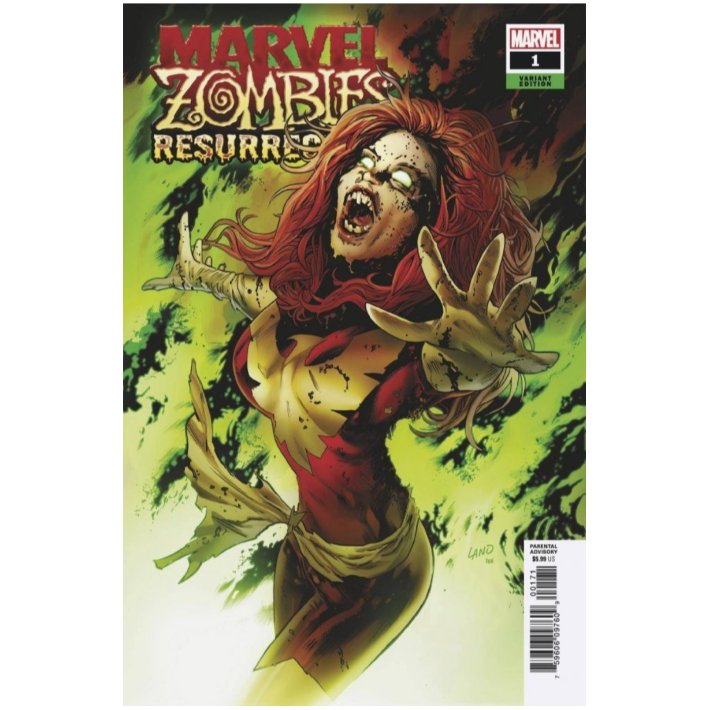 MARVEL ZOMBIES RESURRECTION #1 (OF 4) LAND VAR