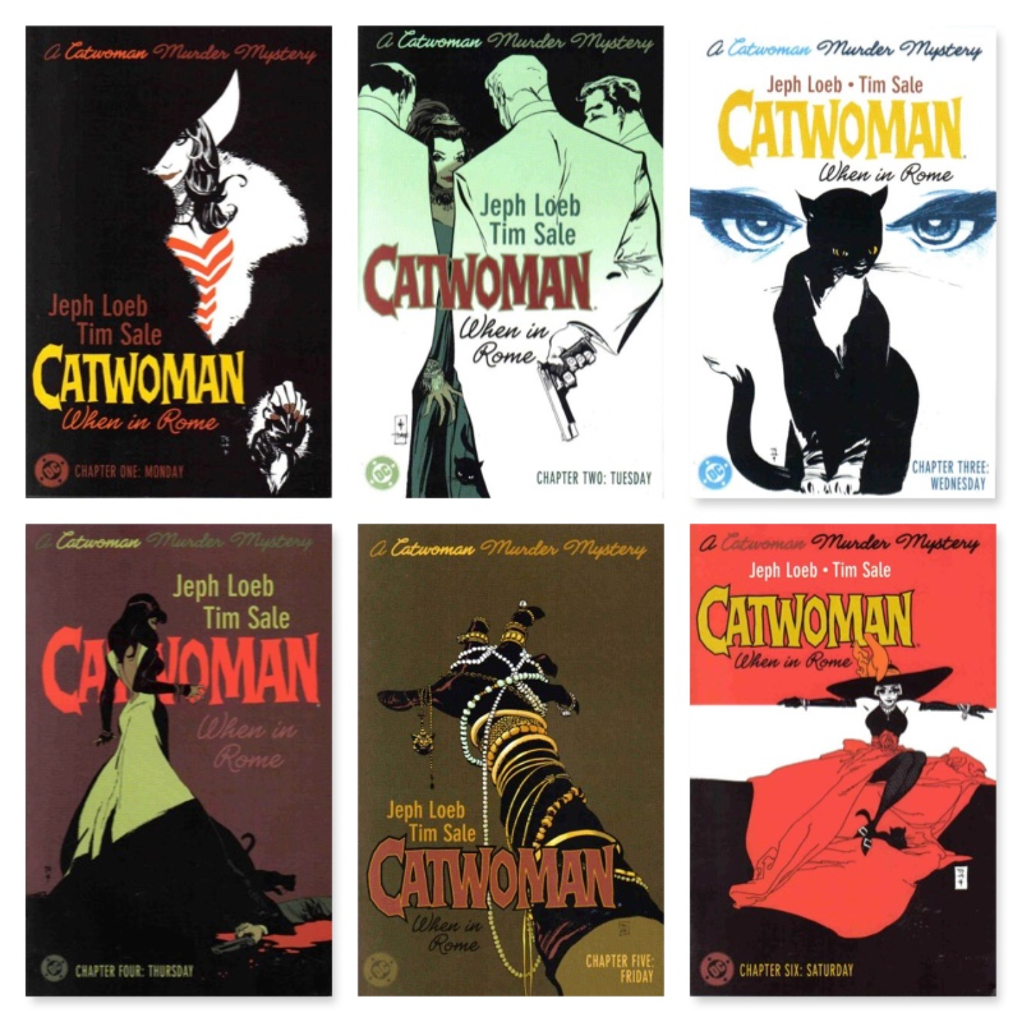 CATWOMAN: WHEN IN ROME #1 - #6 MINI SERIES