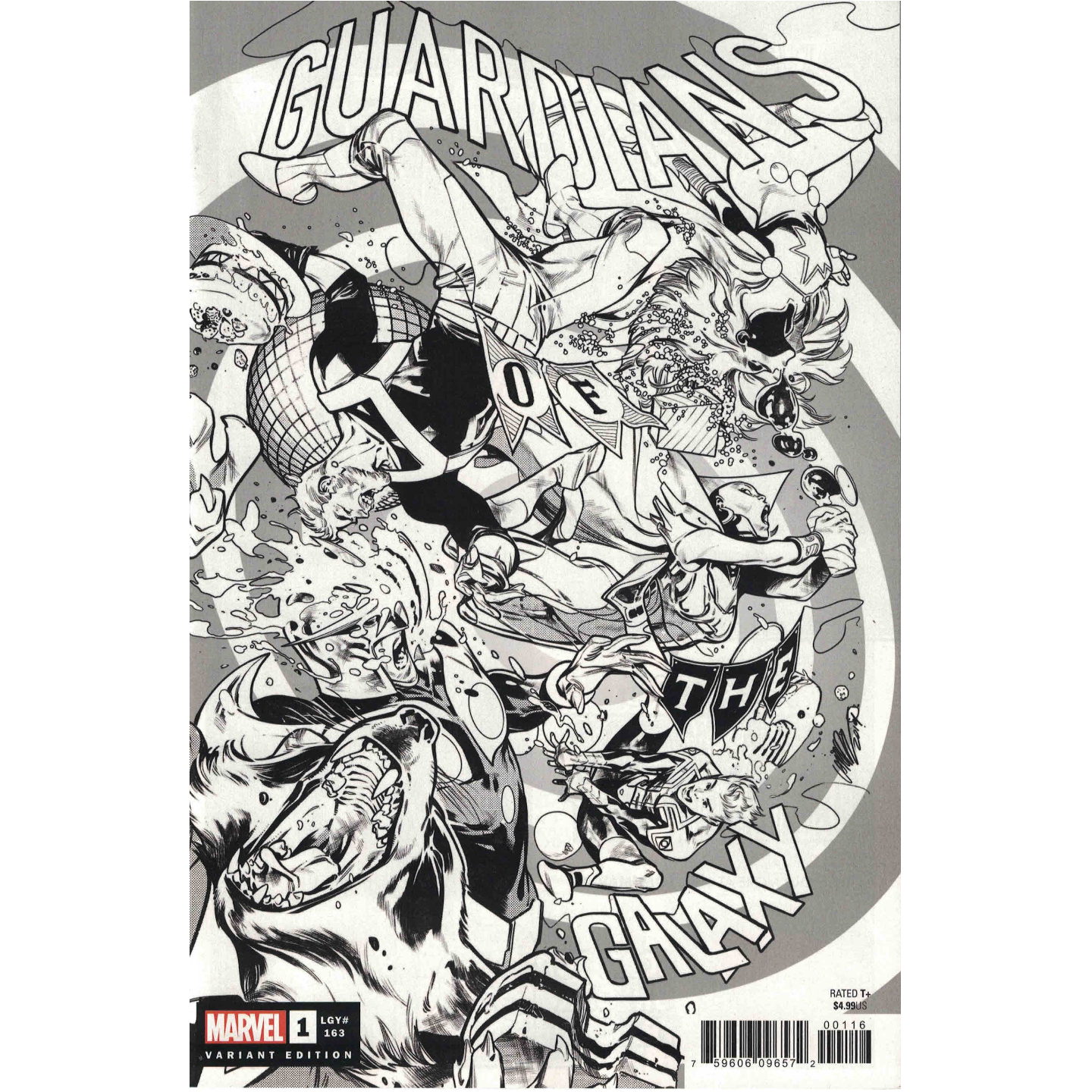 GUARDIANS OF THE GALAXY #1 PEPE LARRAZ PARTY SKETCH VARIANT