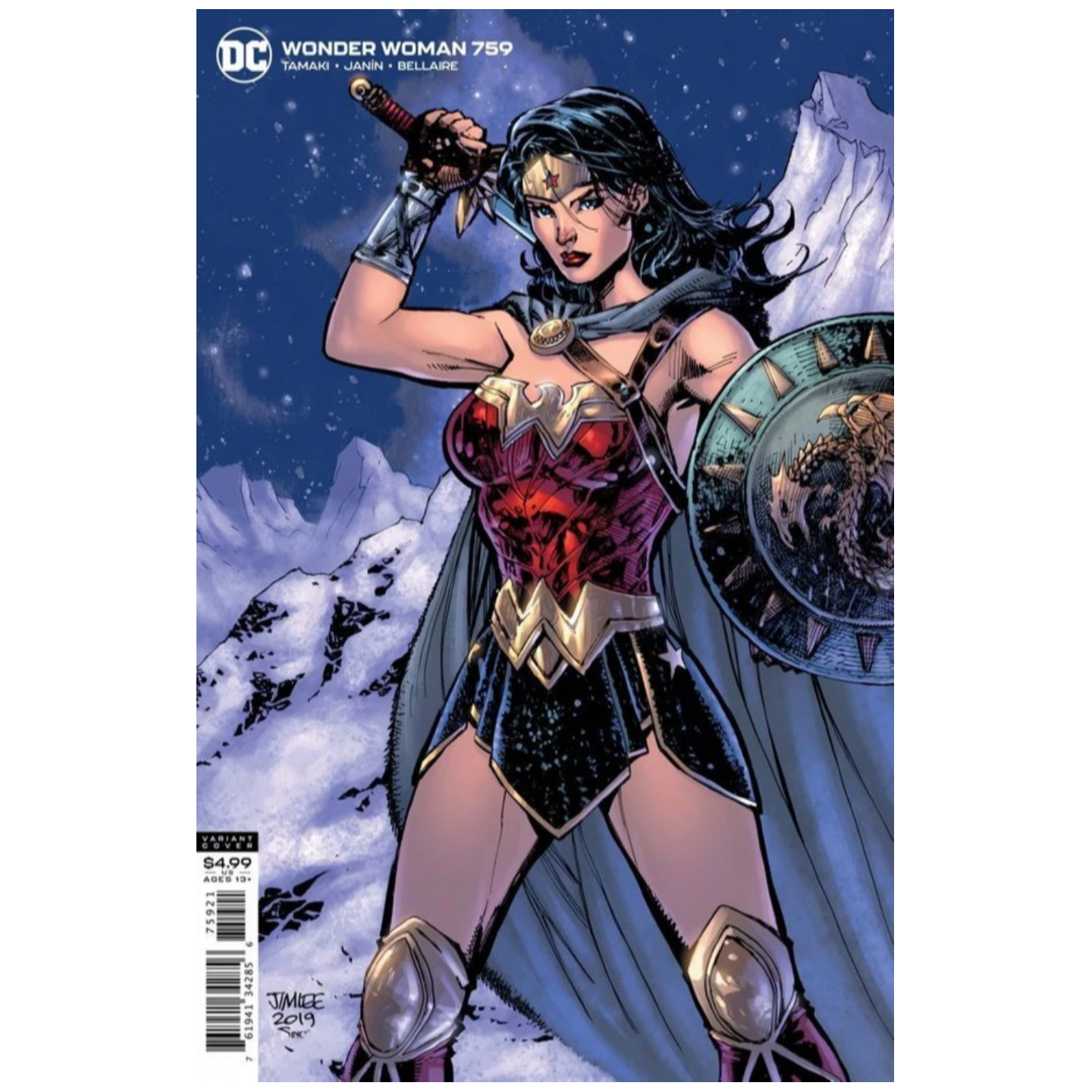 WONDER WOMAN #759 CVR B JIM LEE CARD STOCK VAR