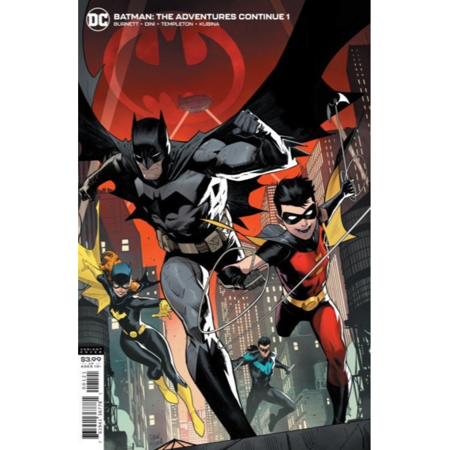 BATMAN: THE ADVENTURES CONTINUE #1 VARIANT COVER BY DAN MORA