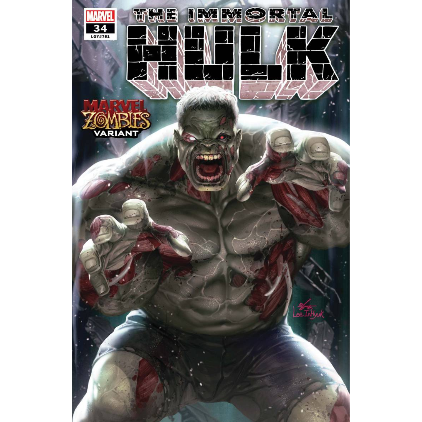IMMORTAL HULK #34 INHYUK LEE MARVEL ZOMBIES VAR