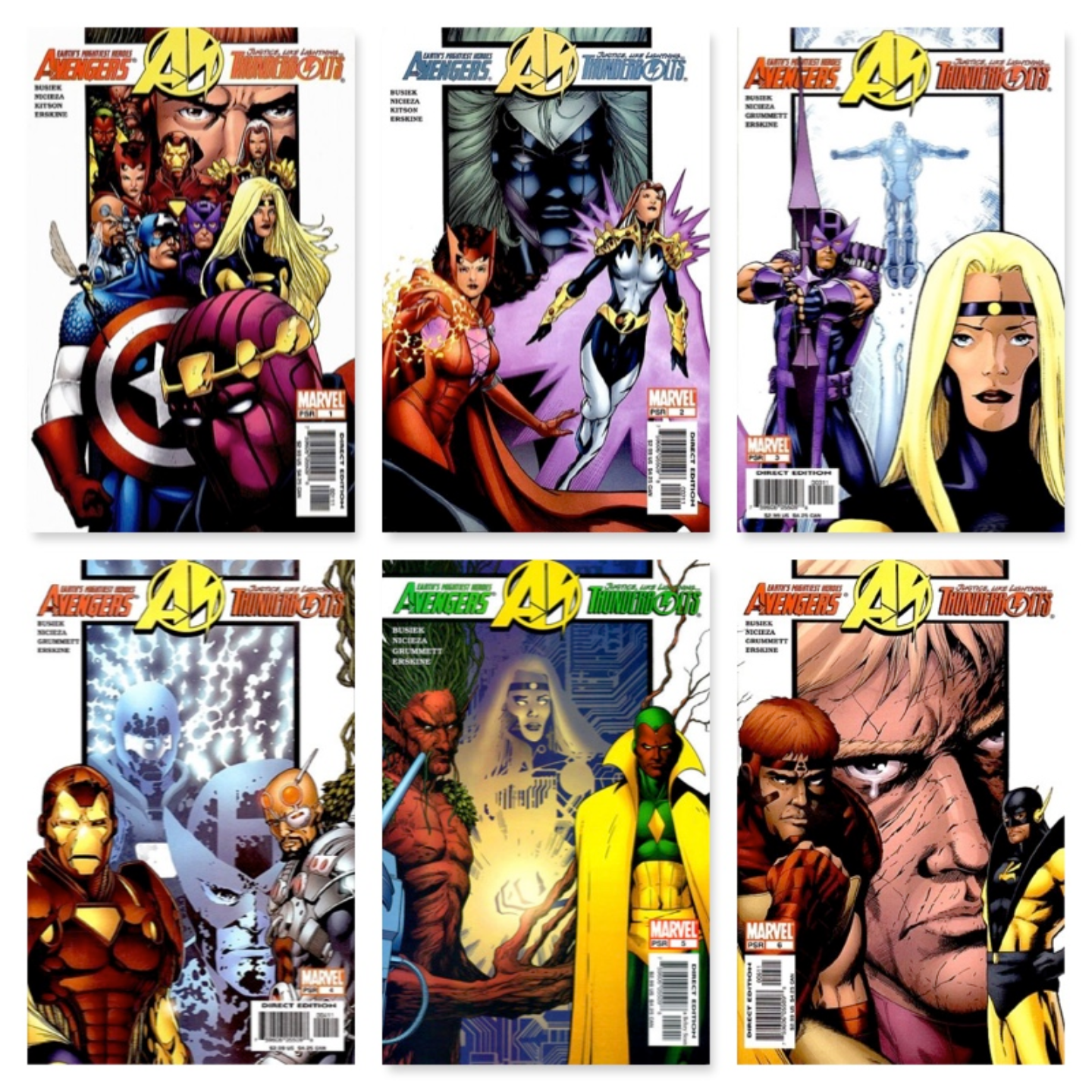 AVENGERS / THUNDERBOLTS #1 - #6 (COMPLETE LIMITED SERIES)