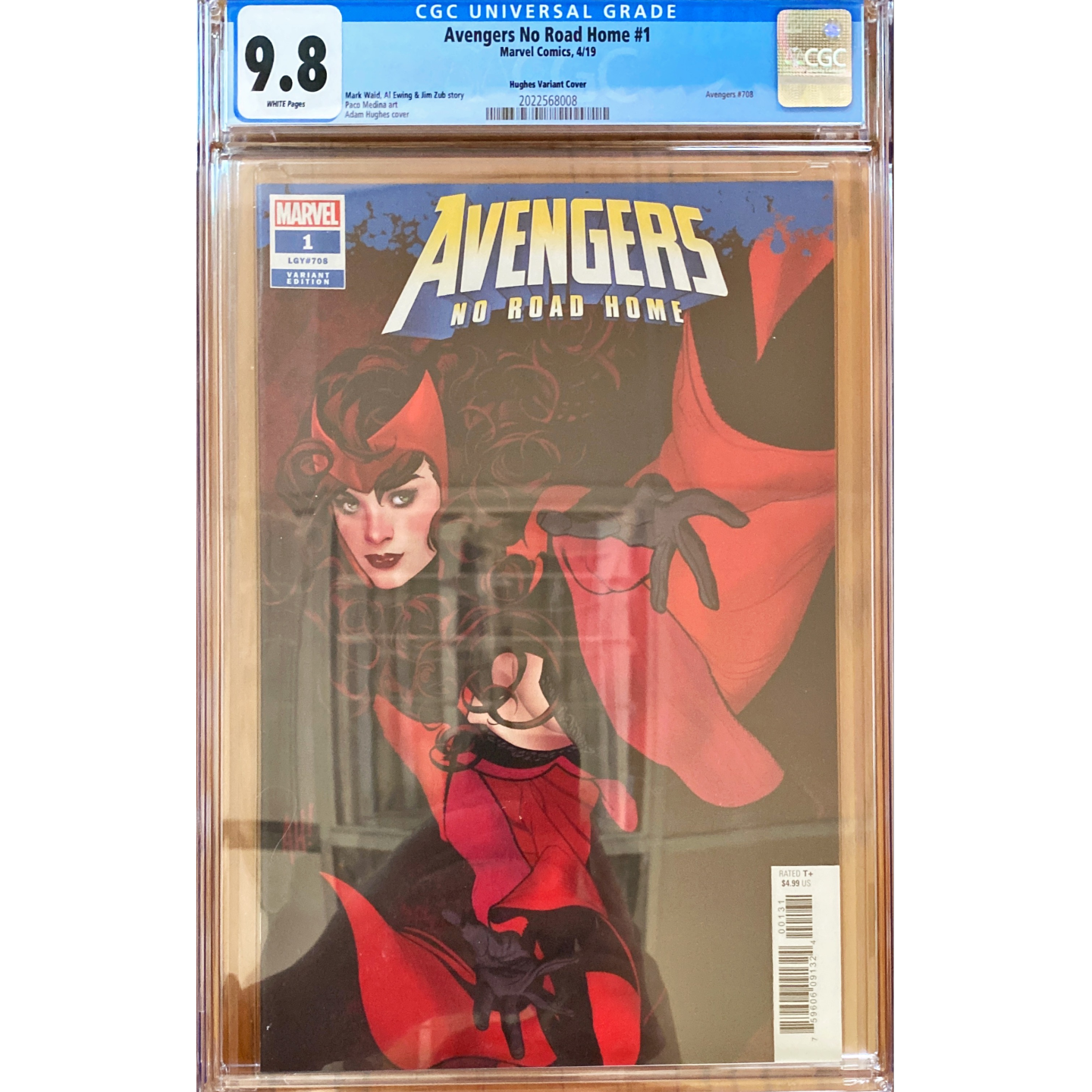 AVENGERS NO ROAD HOME #1 ADAM HUGHES (1:50) VAR CGC 9.8