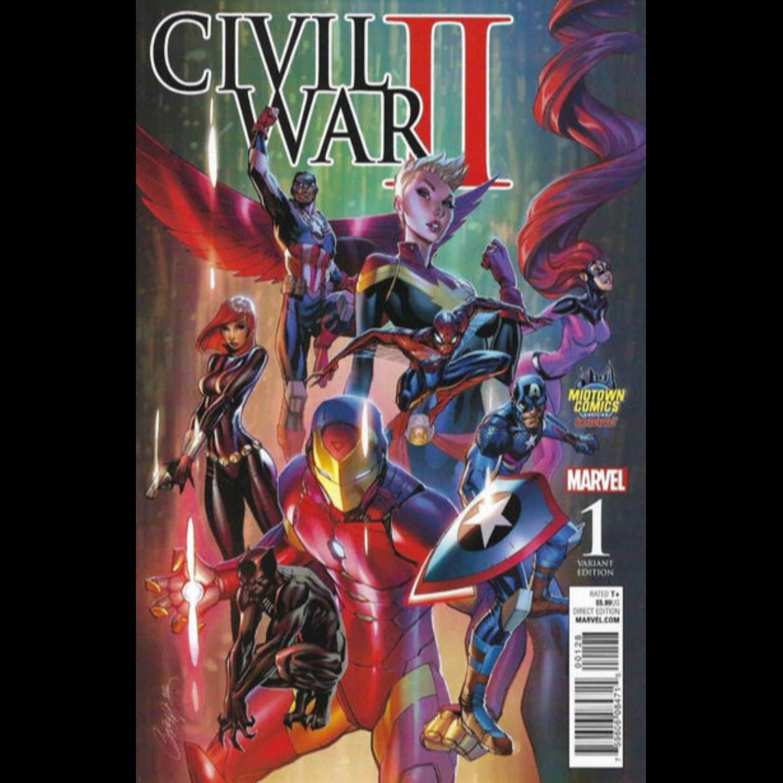 CIVIL WAR II #1 - MIDTOWN COMICS EXCLUSIVE J. SCOTT CAMPBELL COLOR VARIANT