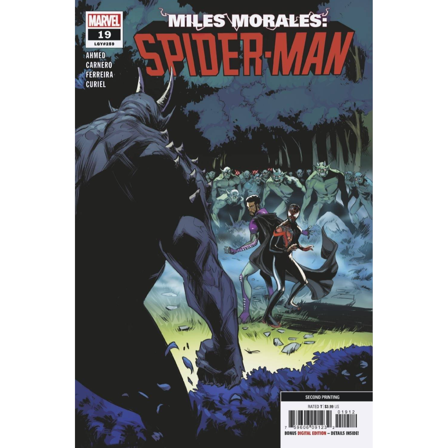 MILES MORALES SPIDER-MAN #19 2ND PTG VAR OUT
