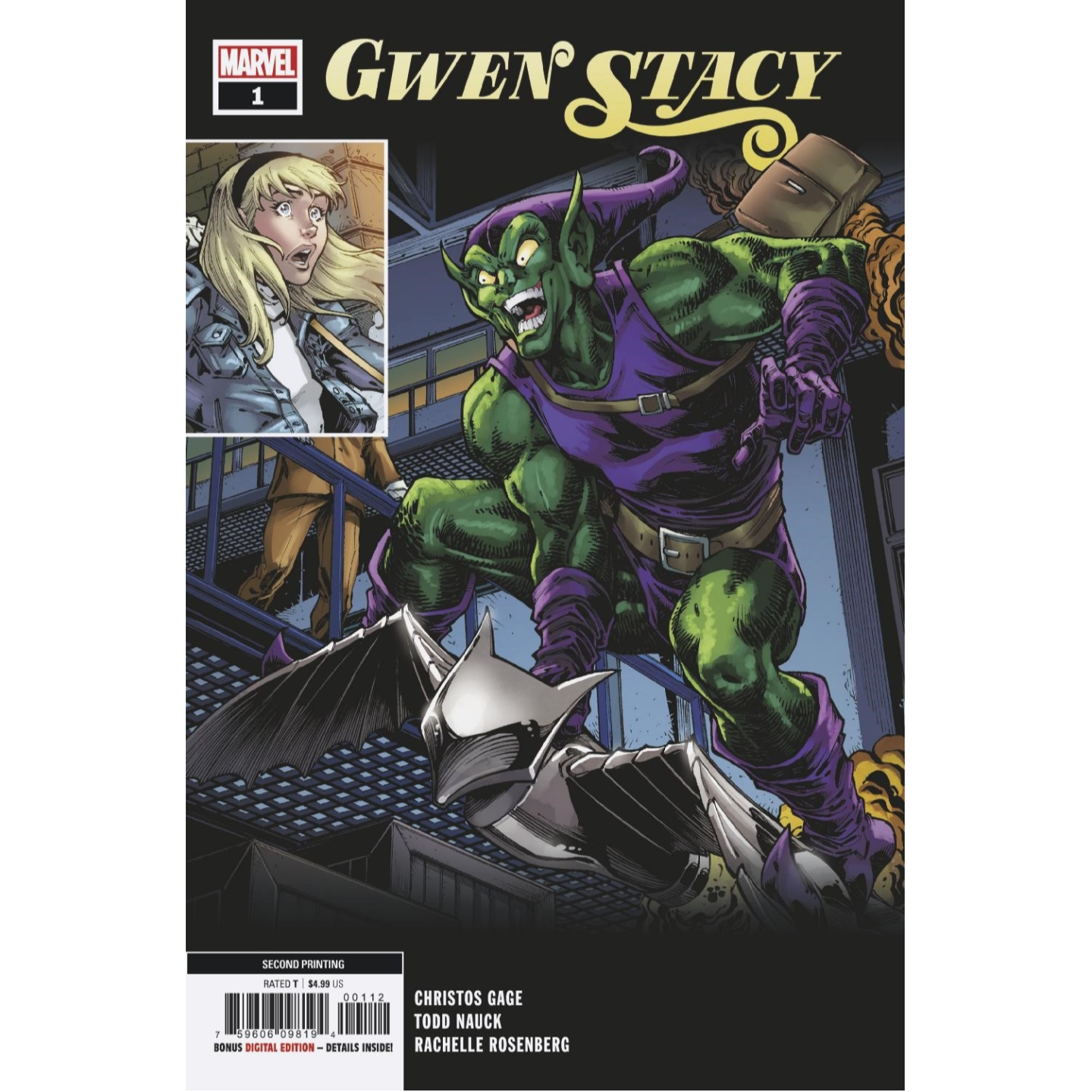 GWEN STACY 1 OF 5 2ND PTG NAUCK VAR